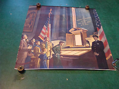 Original Vintage poster BOY SCOUTS Visiting DECLORATION OF INDEPENDENCE wm smith