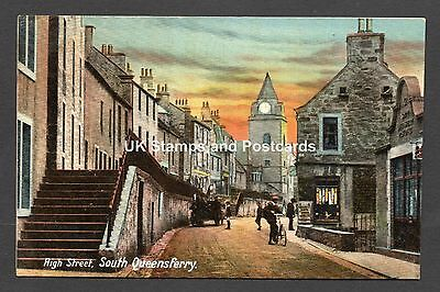 High Street South Queensferry West Lothian Unposted Forth Series Card As Scanned