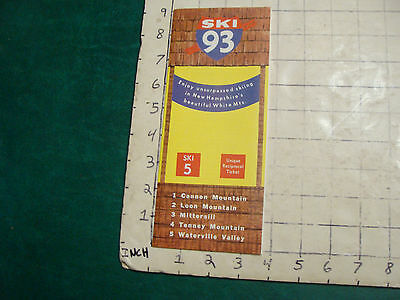 Vintage High Grade SKI Brochure: SKI 93; 5 major areas; 1970; +accommodations