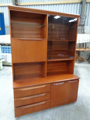 retro 70s 80s teak style room divider unit  display cabinet