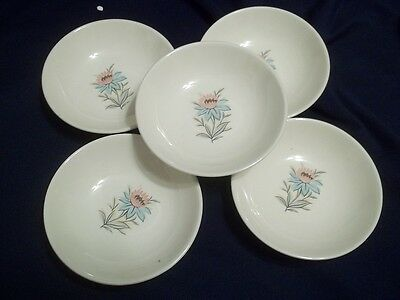 Vintage Steubenville Pottery USA Fairlane Pattern  Small Desert  Sauce Bowls . 5