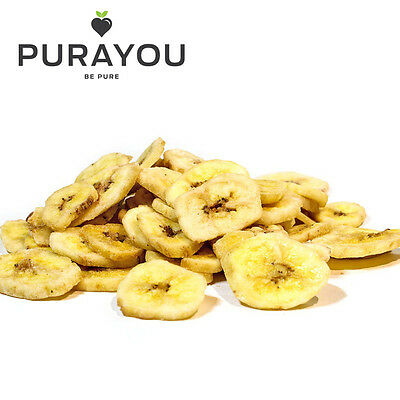 Purayou Natural Dried Banana Chips 125g, 250g, 500g A1 Quality - Free Delivery