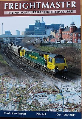 Freightmaster - National Railfreight Timetable book - NO 63 OCT TO DEC 2011