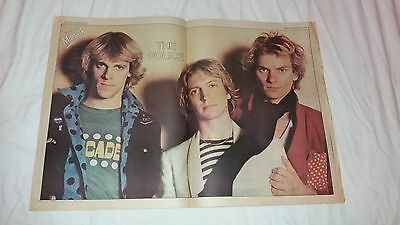 The Police-Original 2 Page Colour Poster-29.9.1979-Sting-Andy Summers