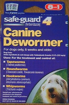 SAFE-GUARD CANINE DEWORMER FOR DOGS 3 X 2g POUCHES