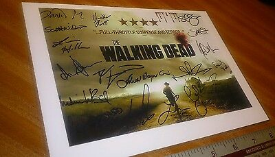 The Walking Dead '038' Cast Signed x19 (Negan actor) - PP A5 POSTER + Laminated