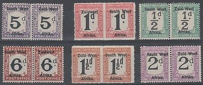 South West Africa Postage Due Selection MLH