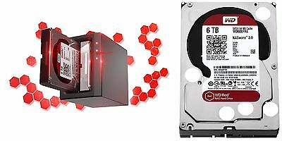 WD RED 6TB NAS Hard Disk Drive 5400 RPM Class SATA 6 Gb/s 64MB Cache WD60EFRX