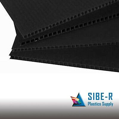 4mm Black 24 x 36 (4 pack) Corrugated Plastic Coroplast Sheets Sign * Vertical