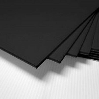 "(4 Pack) 4mm Black 24"" x 48"" Corrugated Plastic Coroplast Sheets Sign ^"