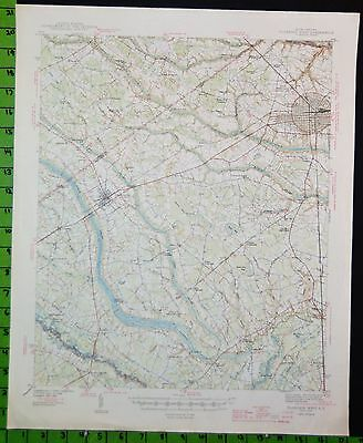 Florence South Carolina Antique USGS Topographic Map Printed 1945 17x21