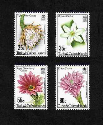 Tusks & Caicos Is 1981 Flowering Cacti complete set of 8 values (SG 635-638) MNH