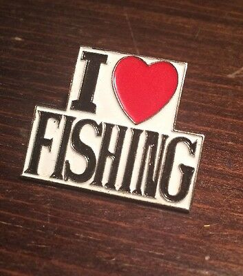 I Love Fishing  Pin Badge