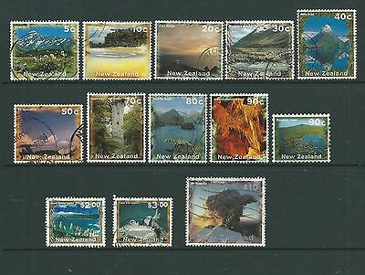NZ 1995 Scenery values to $10 SG1925-35, good to fine used, Cat.£15+.