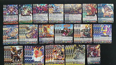 Cardfight Vanguard Kagero Complete 50 Card Deck - Perdition Overlord the Great