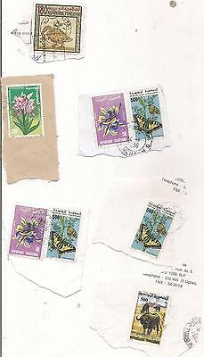 8 TUNISIA stamps on paper.
