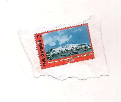 1 GAMBIA stamp on paper.