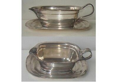 Silverplate Reed & Barton Sauce, Gravy Boat With Underplate- Mayflower