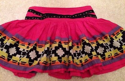 JUSTICE Girls Skort Size 12 Cute Pink Aztec Print Free Shipping