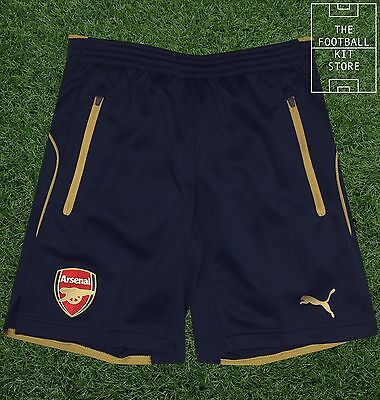 Arsenal Training Shorts - Official Puma Boys Shorts with Zip Pockets - All Sizes