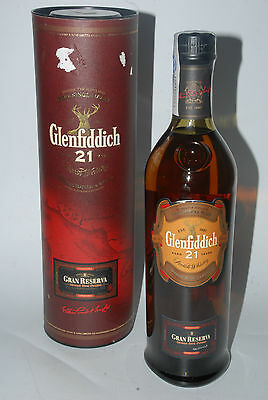 WHISKY GLENFIDDICH 21 YEARS OLD GRAN RESERVA CUBAN RUM FINISH IN BOX  70cl.