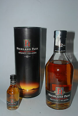 WHISKY HIGHLAND PARK 12 YEARS OLD ORKNEY ISLANDS 43 + MINIATURE 5cl.+ 70cl.