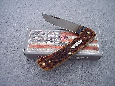 CASE XX *B ANTIQUE BONE TRAPPER WITH BLACK PVD COATED BLADES