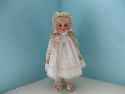 """Antique Bisque Head 10"""" Character Doll Composition Body Jointed."""