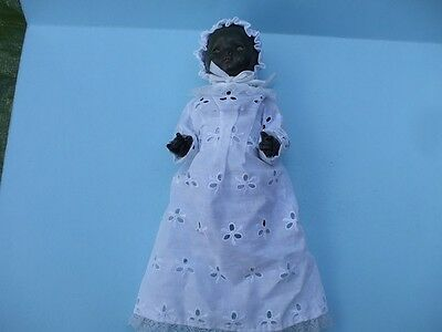 """Antique Painted Head 7 1/2"""" Baby Doll Composition Body Jointed."""