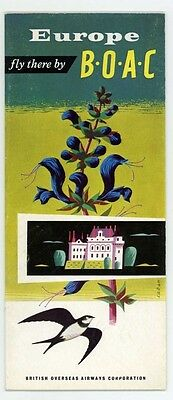 Boac Vintage Europe ' Fly There By Boac ' Tourism Brochure
