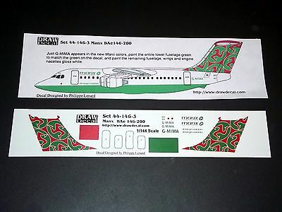 Draw Decal Decals 44-146-3 1/144 BAe Manx Airlines