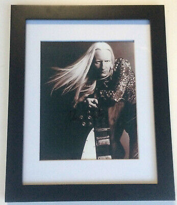 Step Back JOHNNY WINTER Signed Autographed FRAMED 8x10 Photo COA! REST IN PEACE