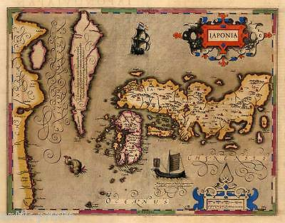 Japan-Nihon/Nippon-Kupferkarte-Copper engraving-Map Mercator-Hondius 1609