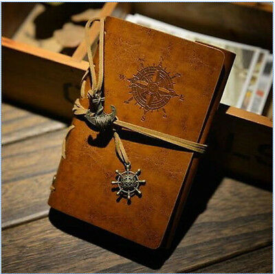 Classic Leather Journal Travel Notepad Notebook Loose-Leaf Diary Christmas Gift