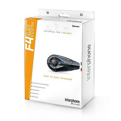 Interphone bluetooth TELÉFONO MÓVIL LINE F4 MC moto casco intercomunicador