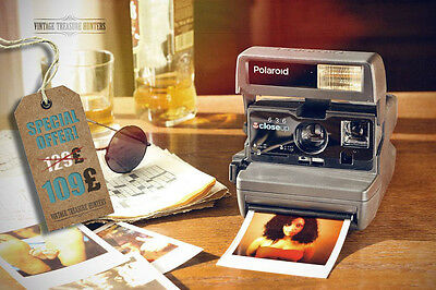 Polaroid 636 Close Up + Impossible Project film for FREE + FEEE Shipping UK