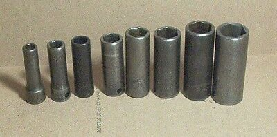 Socket Set Snap On 3/8 In Drive Impact Standard Sae Deep 5-16 In To 3-4 In
