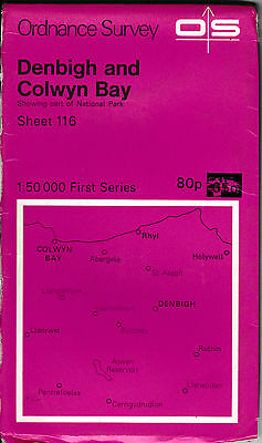 Ordnance Survey Landranger Map Sheet 116 Denbigh & Colwyn Bay Rhyl 1974 OS