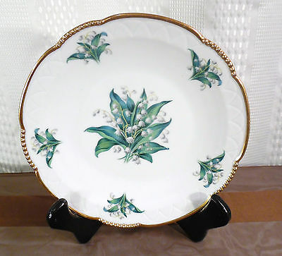 One (1) MITTERTEICH BAVARIA small PLATE 075 Lilies of the Valley Salad Dessert