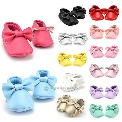 Tassel Leather Soft Sole Shoes Boy Girl Toddler Crib Moccasin for baby 0-18M