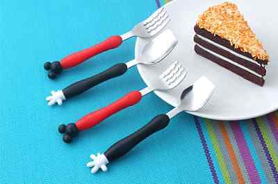 NEW Micky and Minnie Mouse Fork and Spoon Set Baby Feeding Accessories Gift Idea
