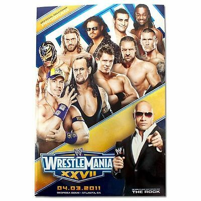Wwe Wrestlemania 27 & Hall Of Fame 2011 Event Programme New