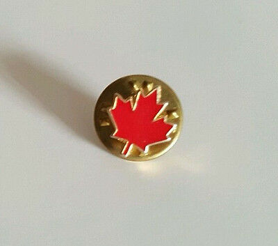Mini Light Red Canadian Maple Leaf Lapel Hat Collectible Pin
