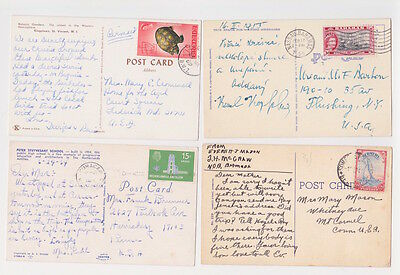 Caribbean Picture Postcard Cover Lot All Mailed