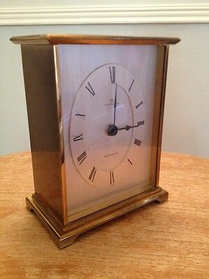 Vintage Hamilton Brass Mantel Piece Carriage Clock