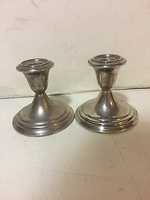 Vintage Pair of GORHAM HERITAGE STERLING SILVER Candle Holders Italy