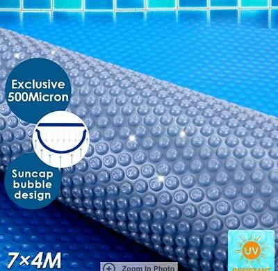 500 Micron Solar Swimming Pool Cover Blanket 7M x 4M Save water/energy/chemica