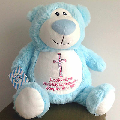 Holy Communion Christening Baptism personalised Cubbie teddy bears
