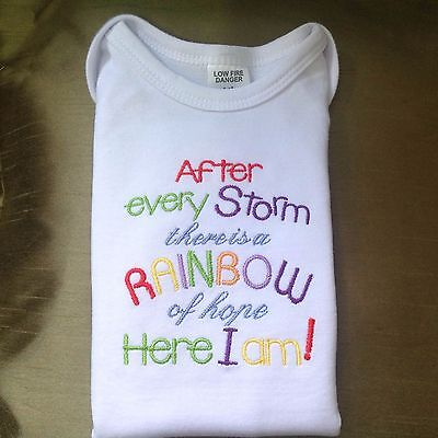 After Every Storm There Is a Rainbow - bodysuit, onesie t-shirt