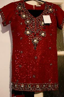 Girls childrens Indian Bollywood pakistani Punjabi 3pc Salwar Kameez size 24
